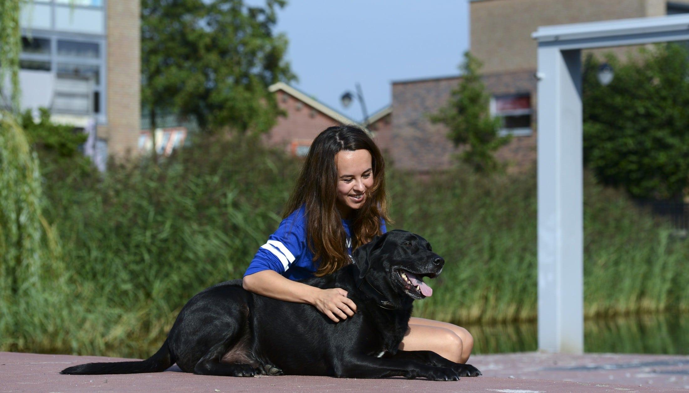 Vathorst meisje met hond